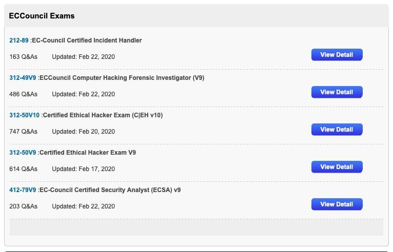 ECCouncil Exams Related