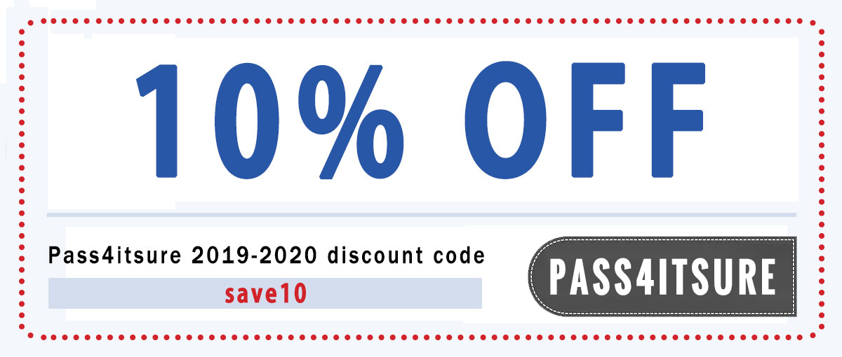 pass4itsure 10% coupon